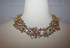 J.CREW IRIDESCENT CRYSTAL CLUSTER NECKLACE F4890