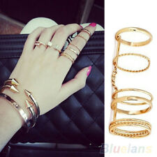 Fashion Women's Lady Plain Knuckle Chain Midi Finger Ring Punk Party Jewelry Hot