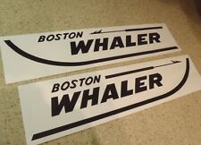 "Boston Whaler Vintage Boat Decals Die-Cut 2-Pak 18"" FREE SHIP + Free Fish Decal!"