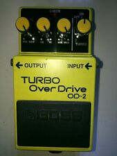 Boss OD-2 Turbo Over Drive Guitar Effect Pedal 1988 Made in Japan Free Ship