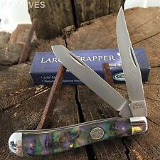 """Grand Dad's 3.75"""" Large Trapper Pocket Knife IMT. ABALONE NEW 210973-PU"""