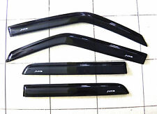 BLACK VISOR WEATHER GUARDS COVER FOR NISSAN JUKE 4DOOR HATCHBACK 2013-2014