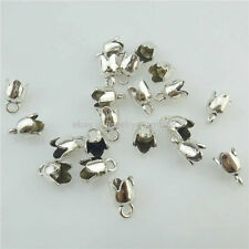 18313 100PCS Alloy Christmas Silver 10mm Bell Beads Cap For Pendant Tassels End