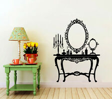 Wall Decals Retro Dressing Mirror Decal Beauty Vinyl Stickers Home Decor CC93