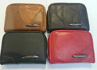 Ladies Girls Real Patch Leather Purses / Coins Purse  Wallet Credit Card Holder