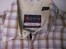 English Laundry Hand Sewn Plaid Embroider BROWN WHITE Dress Shirt sz XL