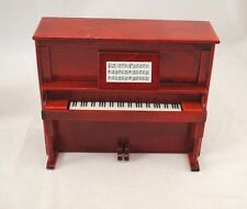Upright Piano w/ Bench D7081  miniature dollhouse furniture wooden 1-12 scale