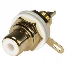 Hicon HI-CEF01-WHT RCA/Cinch-Einbaubuchse vergoldet Weiß PTFE-Isoliert