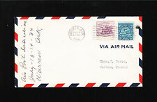 Airport Dedication Manuscript Warren Arkansas ONLY 78 ! FLOWN Air Mail Cover «