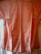 Traditional Kimono material SILK PINK Floral pattern