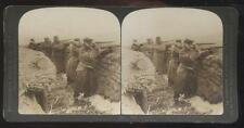 DOUBLEDAY PAGE STEREOVIEW  Russia Japan War Japanese Soldiers at Sha-Ho Trenches