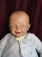 ANTIQUE VINTAGE CRIER GRUMPY BABY POUTY  DOLL 1950s     CRIES WHEN SQUEEZED!!