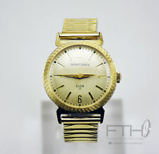 SERVICED-Elgin Sportsman 17 Vintage Mens Watch, 30 Day Guarantee
