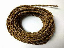 25 ft Simple Vintage 2-Wire Twisted Cloth Covered Wire Antique Pendant Lamp Cord