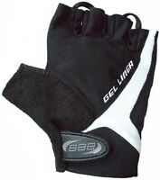 BBB Gel Padded Gloves Mitts Cycling Cycle MTB Bicycle Bike Black Small Mens