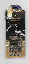 SINGAPORE LIONS CITY HEAVY METAL KEYCHAIN NEW SEALED
