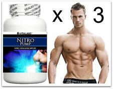 3x Extreme Muscle Growth Builder Pills Nitric Oxide NO 6 Pack Abs Body Building