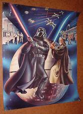 "VINTAGE 1978 STAR WARS POSTER 23"" x 18.5""; Darth Vader vs. Obi Wan Ben Kenobi"