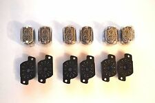 IN-12 + SOCKETS 6PCS SUPER SET NEW nixie tubes NOS IN-12A IN-12B IN12 IN12B IN12