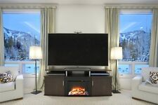 Altra Furniture Altra Carson 70inch Fireplace TV Console, Cherry/Black TV Stand