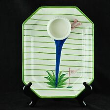 The Mane Lion Italian Golf Themed 19th Hole Ceramic Chip and Dip Platter