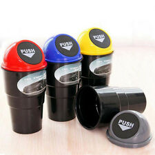 Auto Car Trash Can Garbage Mini Dust Bin Coin Holder Ashtray Cup Home & Office