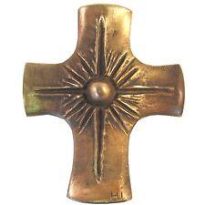 Bronzekreuz Sonne 12 cm * 10 cm Kommunion Bronze Cross sun
