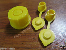 BLITZ Yellow Spout Cap fits gas can spouts 900302 900092 900094 + 2 Yellow Vents