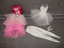 Barbie CLOTHES Fancy Pink- White Ballet Leo Tutu  Tights  Shoes  Lot O2