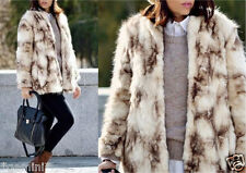 ZARA S 36 38 FELLJACKE PELZJACKE KUNSTFELL MANTEL FAUX FUR JACKET COAT like fox