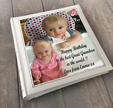 "Personalised large photo album 6x4"" x 200 memory book, Great Grandma birthday"