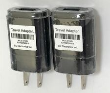 Lot of (2) LG MCS-01WR Wall Travel Phone Charger USB Power Adapter,CSA Certified