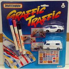 DTE MATCHBOX SUPERFAST GRAFFIC TRAFFIC GF-120 1-D DODGE CHALLENGER 20-E VW TRANS