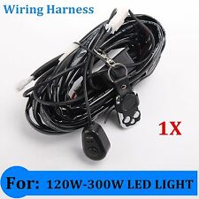 Remote Control Wiring Harness Kit Switch Relay Led Light Bar 120W-300W Universal