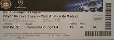 VIP TICKET UEFA CL 2014/15 Bayer Leverkusen - Atletico Madrid