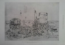 1900 PRINT BOER AMBUSCADE AT KOORN SPRUIT - WITH THE SOUTH AFRICAN LIGHT HORSE