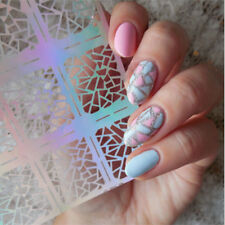 12Tips/Sheet Nail Vinyls Easy Use Nail Art Manicure Stencil Sticker Stamping uf