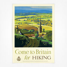 Vintage travel poster - A4 - Come to Britain for Hiking
