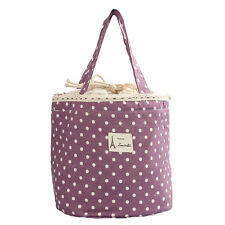 Women Thermal Insulated Lunch Box Tote Cooler Bags Bento Pouch Travel Container