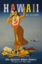 hawaii usa airline vintage travel A1 SIZE PRINT FOR YOUR FRAME