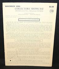 Collector's Showcase #50 Auction Catalog (FN/VF) November 1982