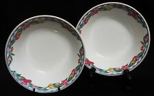 "LENOX CASUAL IMAGES ""COUNTRY TULIPS"" SOUP/CEREAL BOWLS - SET OF 2 - NICE!"