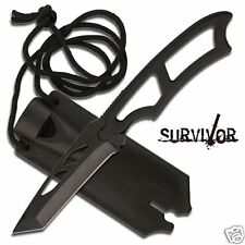 MC Survivor Neck Knife Taschenmesser Tanto Security Einhandmesser mit Halskette