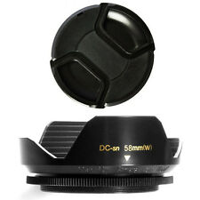 58mm Wide Flower Shaped Lens Hood and Lens Cap for Canon EOS 58 mm EF-S 18-55mm