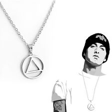 Cool Men's Movie Eminem Triangle Metalic Jewelry Pendant Hip-hop Silver Necklace