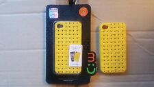 Ultra Thin Yellow Hard Plastic Case Cover For iphone 4 iphone 4S 1pc MOBC