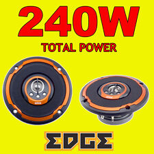 EDGE 240W totale 4 inch 10cm A 4 VIE AUTO VAN PORTA / scaffale COASSIALI ALTOPARLANTI NEW ORANGE