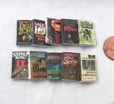 STEPHEN KING Miniature Books 1:12 Scale Prop Books Set of 10 Books