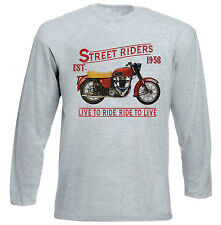 ARIEL FH 650 1958 - GREY LONG SLEEVED TSHIRT- ALL SIZES IN STOCK