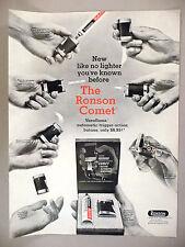 Ronson Cigarette Lighter PRINT AD - 1966 ~ The Ronson Comet